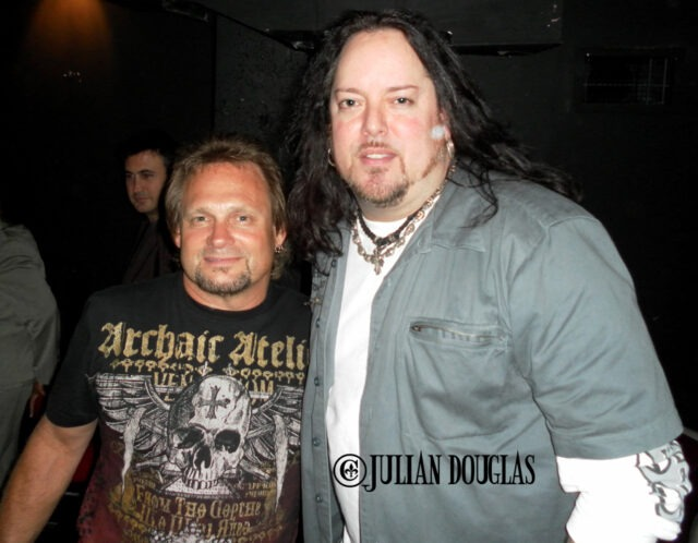 Hanging out in the VI Lounge with Michael Anthony of Van Halen & Chickenfoot at the GreatWhite show 8/12/10.