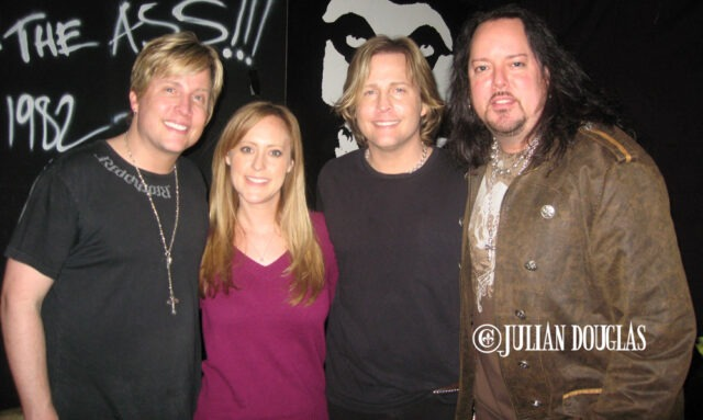 My wife Nicole (who was thebar manager for some time at BriXton) & I with Matthew & Gunnar Nelson in The Dive, after their Ricky Nelson Remembered show 3/4/10.
