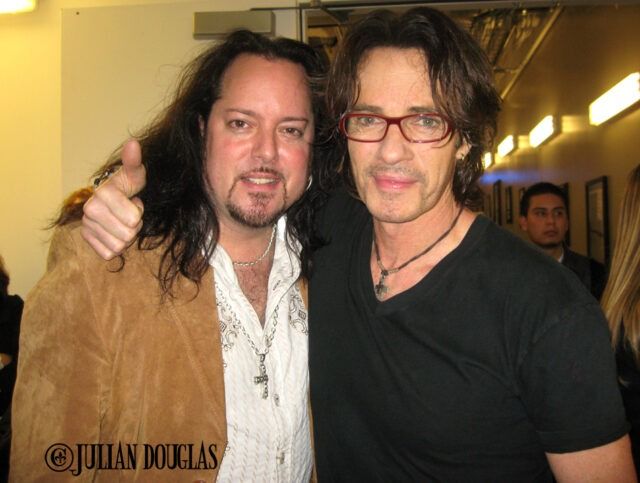 Rick Springfield & I backstage after his show I worked on, Club Nokia, December 2010.