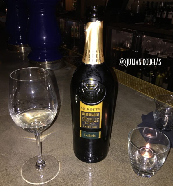 Enjoying myself a nice glass of Merotto Prosecco at The Must in Downtown Los Angeles.