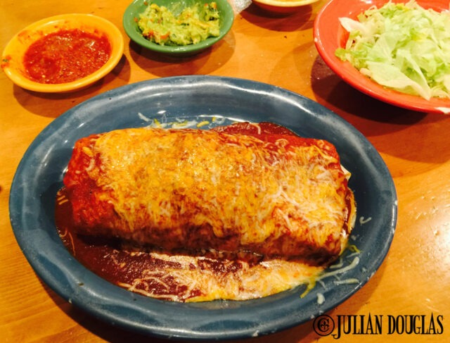 Trust me, this burrito is packed with meat :)