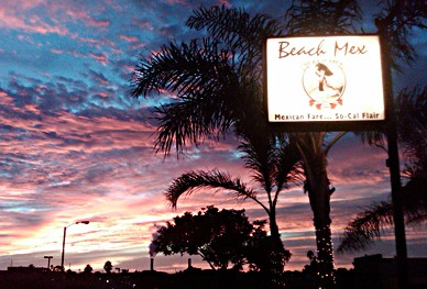 The beach at sunset, not far away from Beach Mex (photo courtesy of Beach Mex).