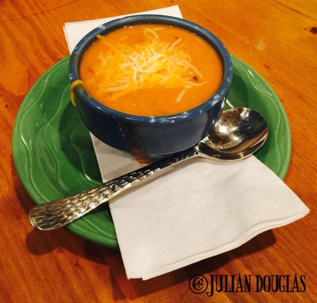 The chicken enchilada soup.