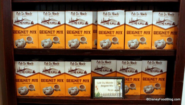 Cafe Du Monde Beignet Mix for sale at Ralph Brennan's in Downtown Disney (photo courtesy of DisneyFoodBlog.com).