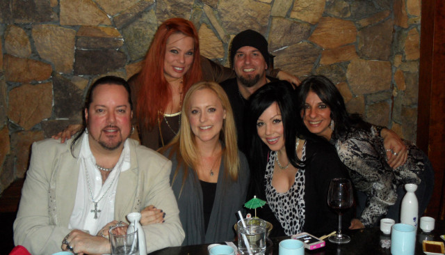 Nicole, wonderful friends Nathan & Nicole, Michelle and Rah, out for my Birthday at the Beverly Hills restaurant, September 2011.