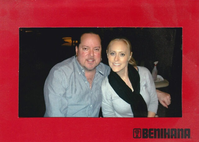 Another Birthday for me with Nicole at the Santa Monica restaurant, September 2012 (photo courtesy of Benihana).