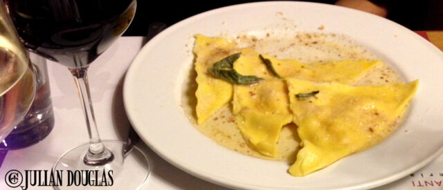The Pumpkin Ravioli... delightful, June 2013.