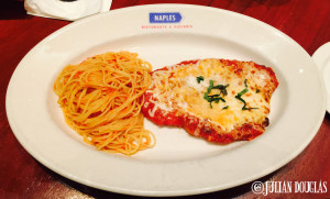 The delictable Chicken Parm at Naples Ristorante in Downtown Disney, January 24th, 2015.
