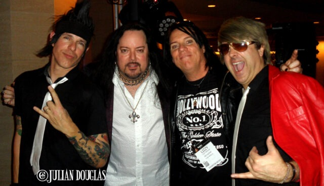 Borck Lee Hudson & Don Bronze of FHA, with Lizzy Borden and I after the show, January 24th, 2015.