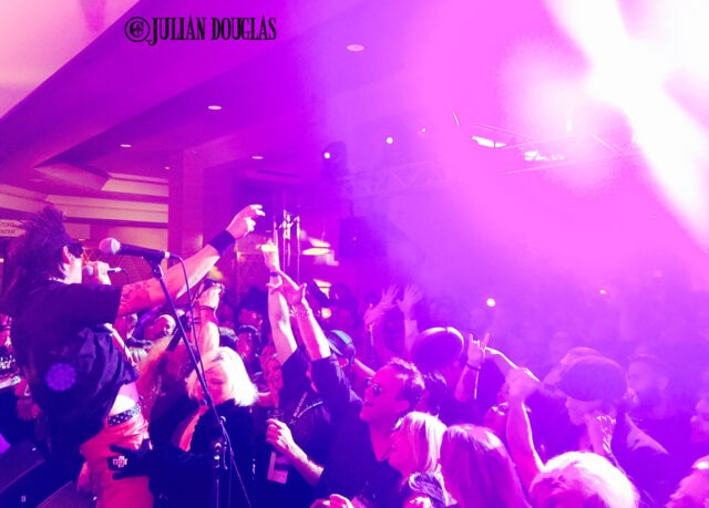 The Hilton Anaheim goingcrazy with Flashback Heart Attack, January 24th, 2015.
