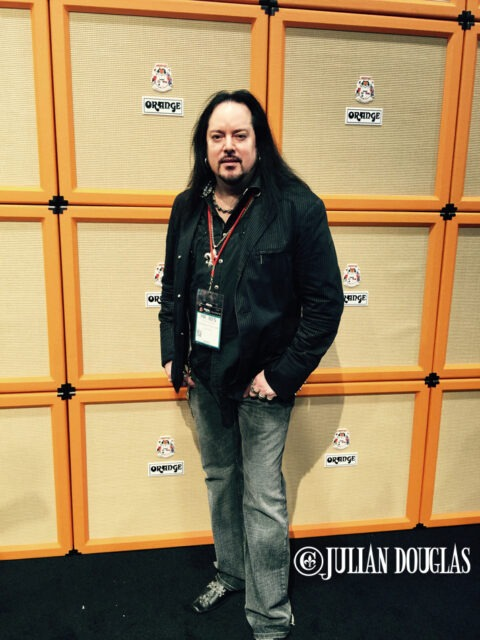 A yearly photo op, hanging at the Orange booth, January 24th, 2015.