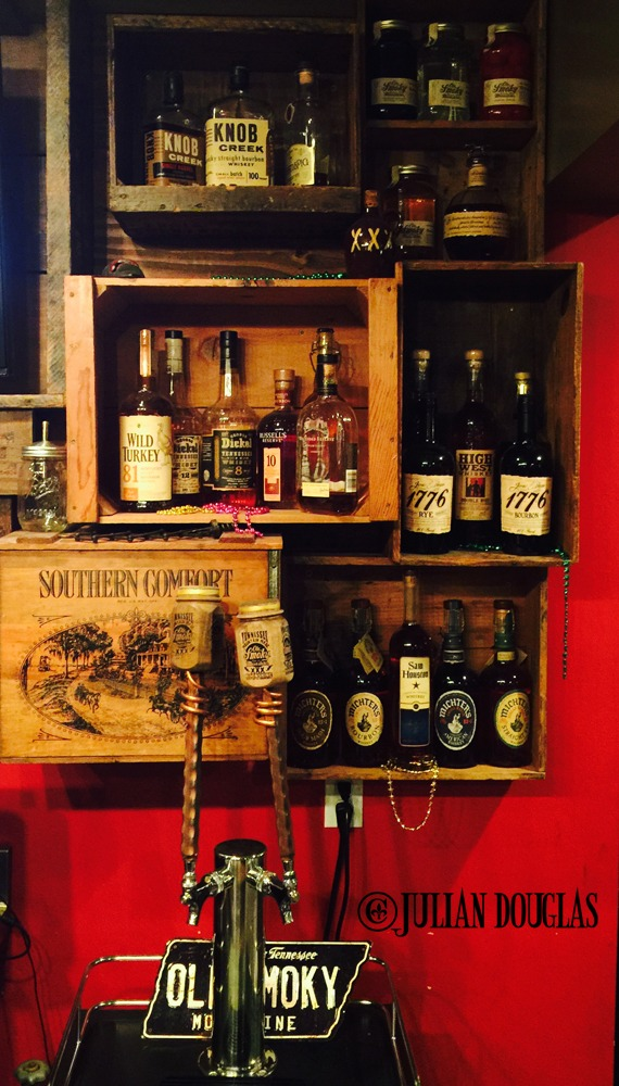 A small part of their Moonshine Bar.