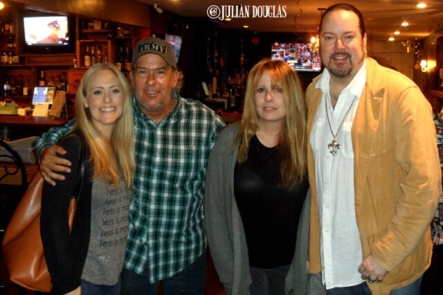 Nicole, Stephen, our dear friend Kathie and I, after an incredible Cajun dinner.