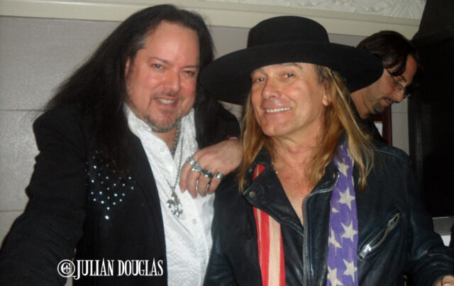 One rock's greats, and darn good buddy too, Robin Zander of Cheap Trick, December 2013.