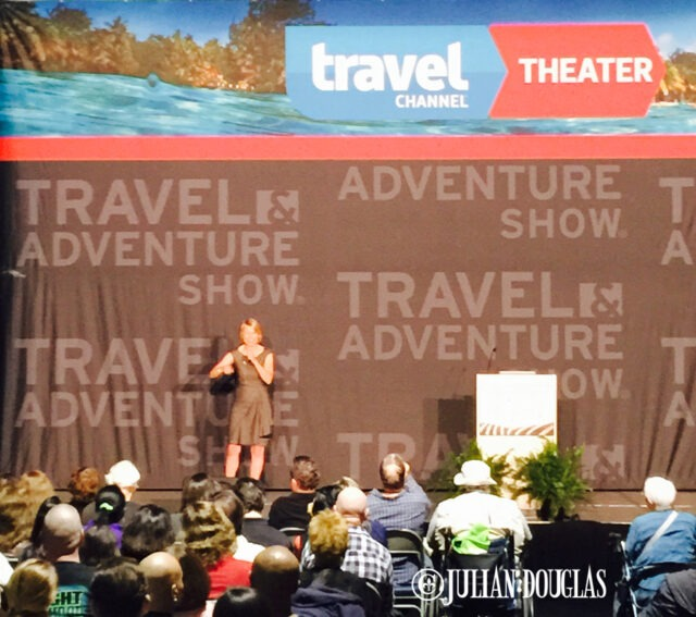 Samantha Brown speaking to around 1,500 people. Check out her site at www.Samantha-Brown.com