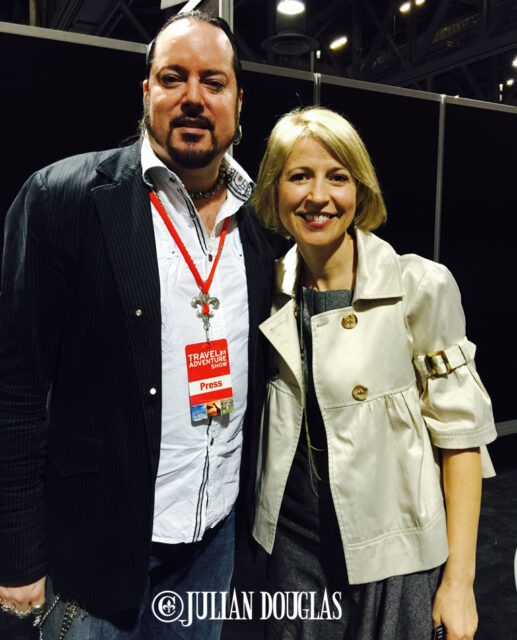 Hands down, the highlight of the whole Travel Show... getting to hang out with Samantha Brown.