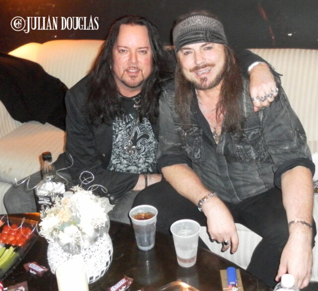 In the Green Room prior to Don's show at the BriXton - South Bay, November 2010.