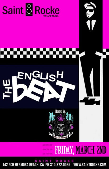 THE ENGLISH BEAT - Back to The Beach with the Hits of THE BEAT & GENERAL PUBLIC @ SAINT ROCKE | Hermosa Beach | California | United States