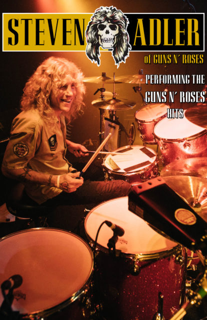 "STEVEN ADLER of GUNS N' ROSES - ""TOTALLY WAYBACK WEDNESDAYS"" @ SAINT ROCKE 